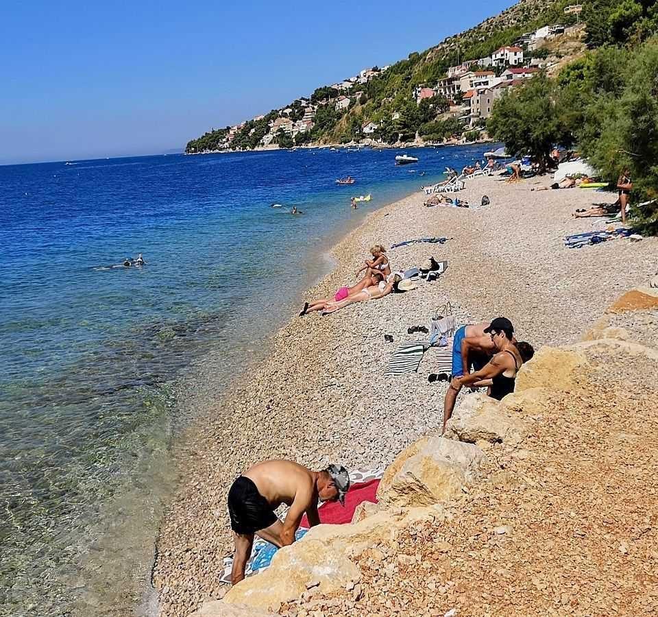 dovolena chorvatsko, plaž villa Mira